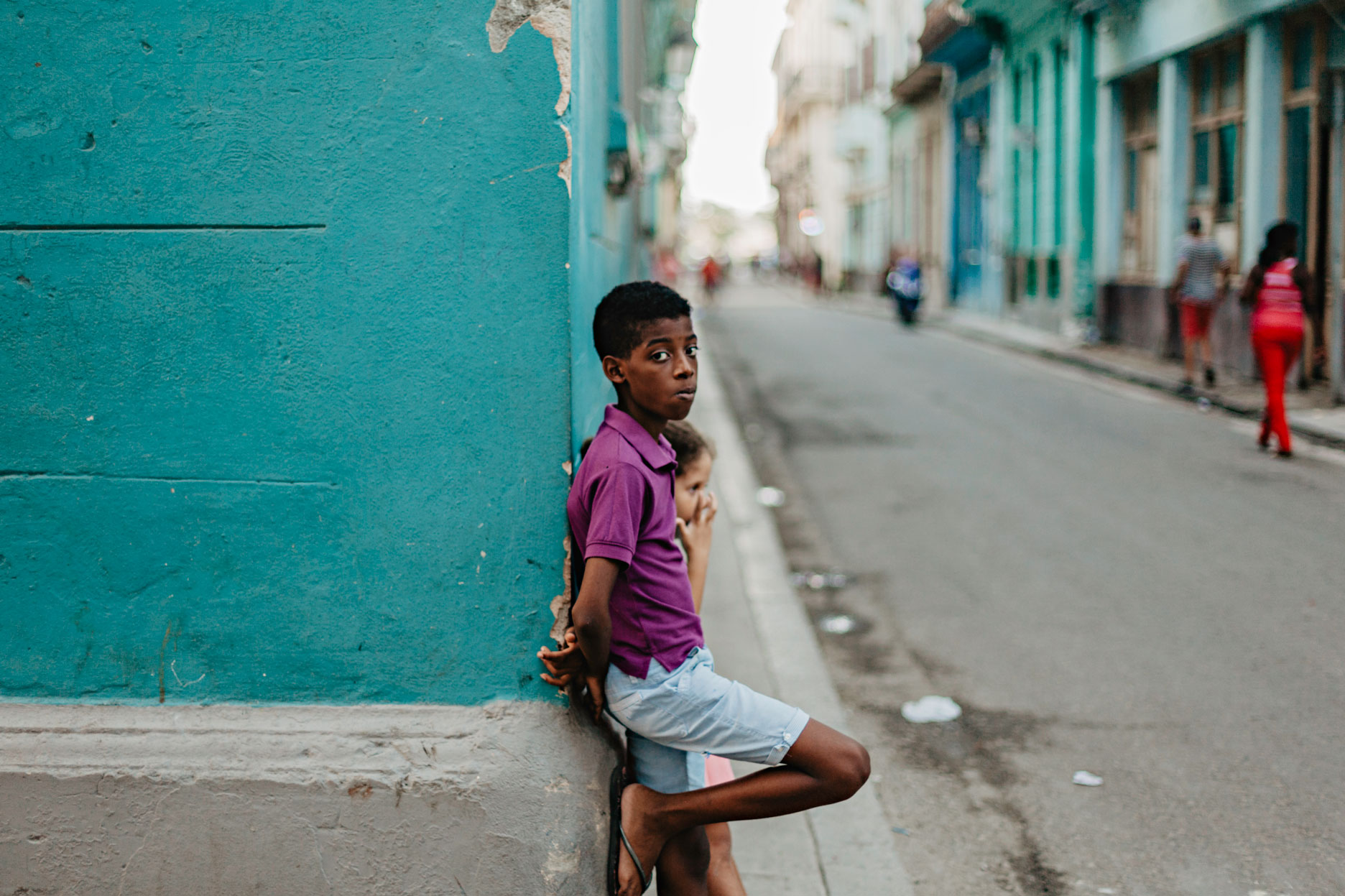 Niños en La Habana