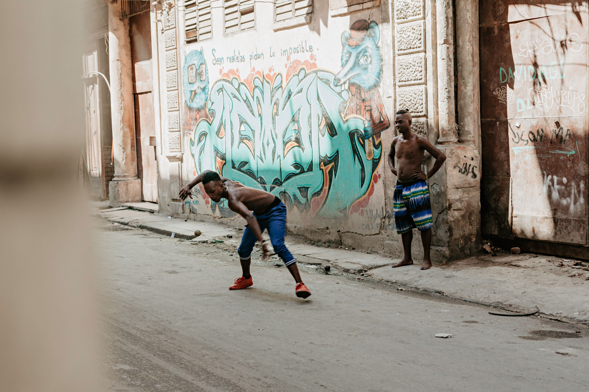 Béisbol en la calle