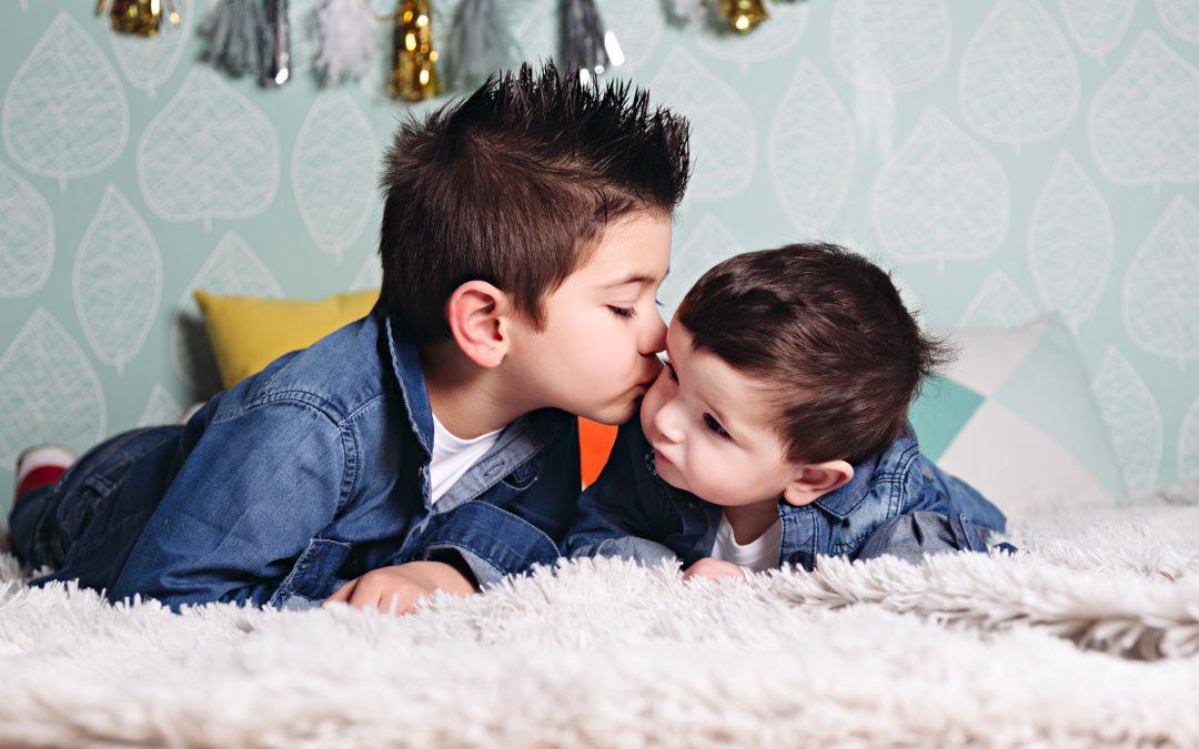 Fotos en familia con David y Adrián