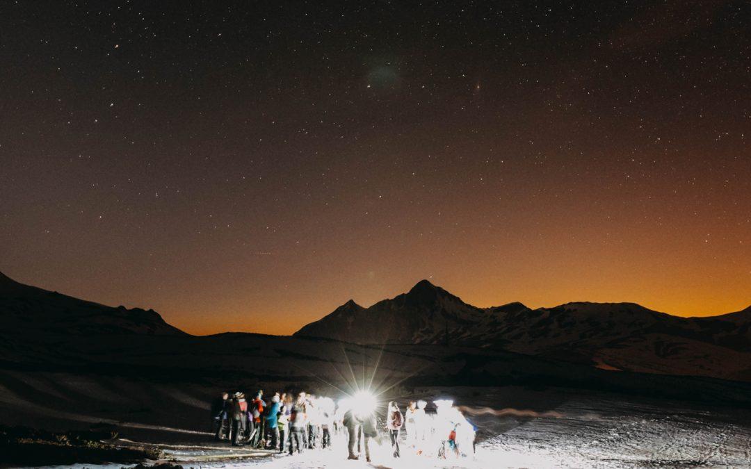 Ruta nocturna con raquetas para ver las estrellas