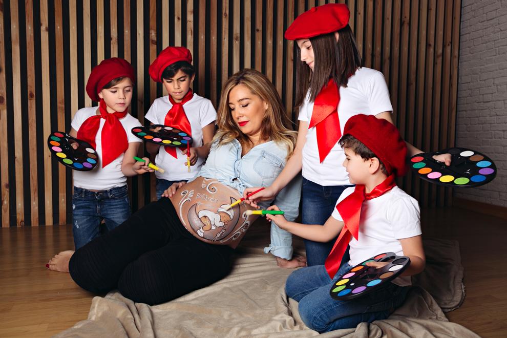 Fotos de estudio del embarazo