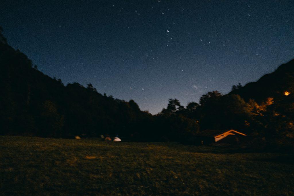 Paisaje nocturno asturiano