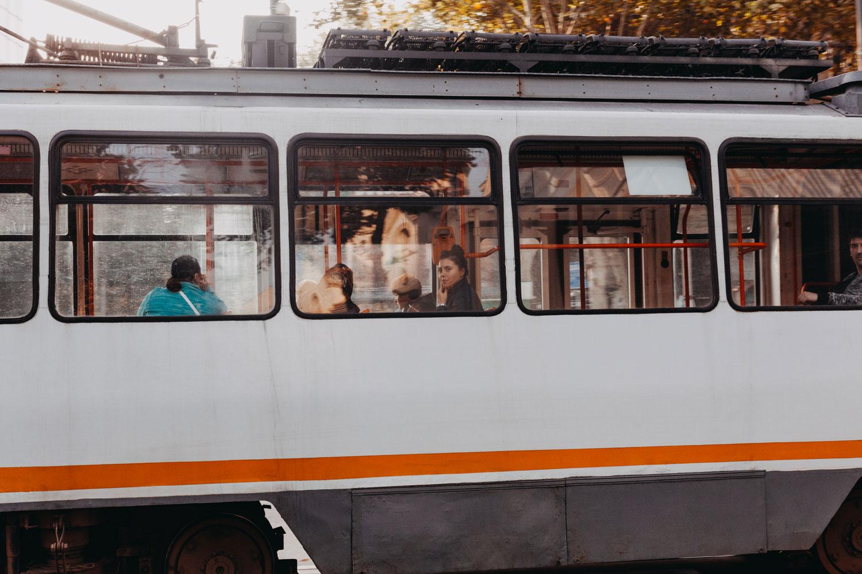 Bucarest tram