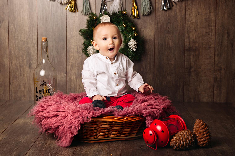 Sesión de fotos para Navidad