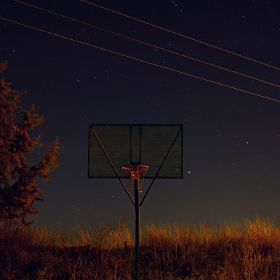 Lámina decorativa: cancha nocturna